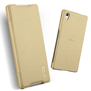 Sony Xperia Z5 Premium 4K Leather Slim Cover Gold
