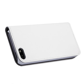 iPhone 5S 5 Flip Case Cover White