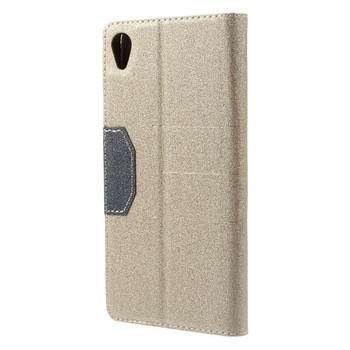Sony Xperia Z3 Flip Cover Case Gold