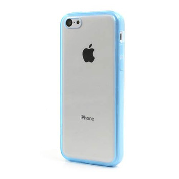 iPhone 5C Bumper Case Blue Transparent