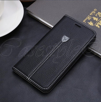 iPhone 6S 6 Leather Wallet Booklet Case Black