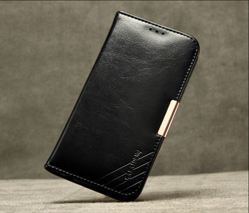 Samsung Galaxy S7 Edge Premium Leather Case Black