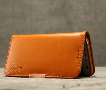 Samsung Galaxy S7 Edge Premium Leather Case Brown