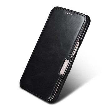 iCarer Samsung Galaxy S7 Vintage Leather Case Black