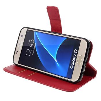 Samsung Galaxy S7 Wallet Case Red