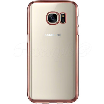 Samsung S7 EDGE Bumper Case Pink+Transparent Back