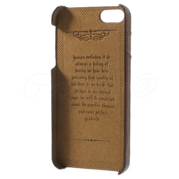 iPhone SE Genuine Leather Back Cover Brown
