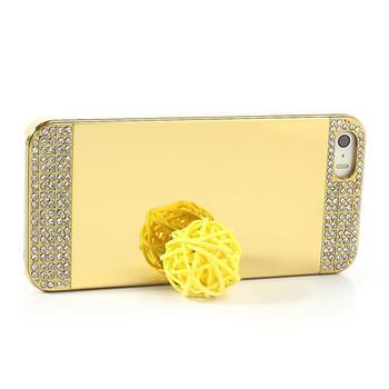 iPhone SE Diamond Mirror Luxury Case Gold
