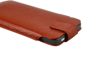 iPhone SE Real Leather Pouch Brown