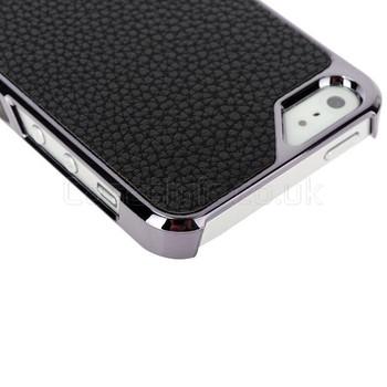 iPhone SE Case Black Leather Back