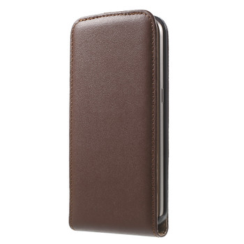 Samsung Galaxy S7 Leather Flip Case Brown