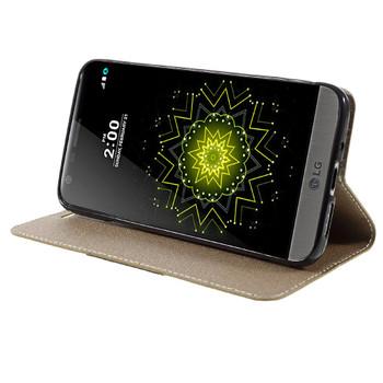 LG G5 Wallet Flip Cover Case Gold