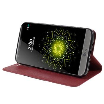 LG G5 Wallet Flip Cover Case Red