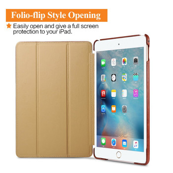 iPad Air 2 Real Vintage Leather Cover Case Brown