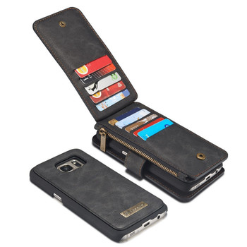 Samsung Galaxy S7 Leather Wallet Case-14 Card Slots