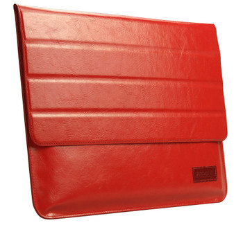 MacBook 12 Inch Real Leather Sleeve Case Bag Red
