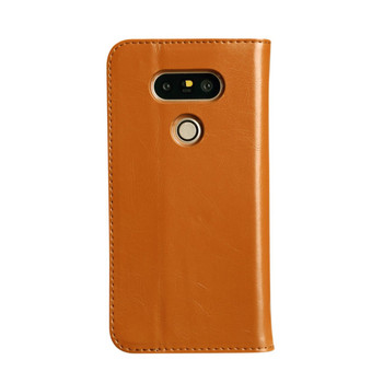 LG G5 Premium Leather Wallet Case Brown