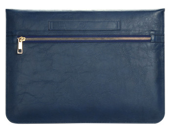 MacBook Air 11 Inch Real Leather Case Sleeve Bag Blue