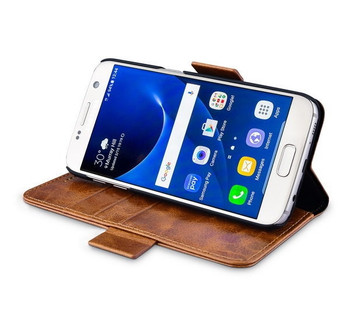 iCarer Samsung Galaxy S7 Real Leather 2 In 1 Folio Case