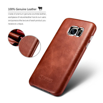 Samsung Galaxy S7 EDGE Vintage Leather Case Brown
