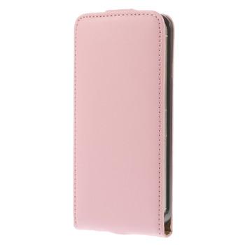 iPhone SE Leather Flip Case Soft Pink