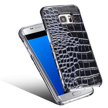 Samsung Galaxy S7 EDGE Real Leather Crocodile Luxury Case