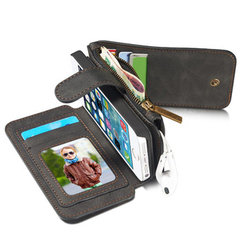 iPhone 5S 5 Leather Wallet Case-8 Card Slots
