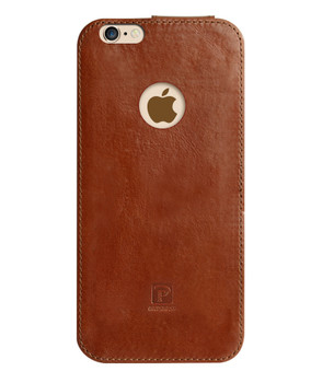 iPhone 6S 6 Real Leather Wrap Case Pouch Brown
