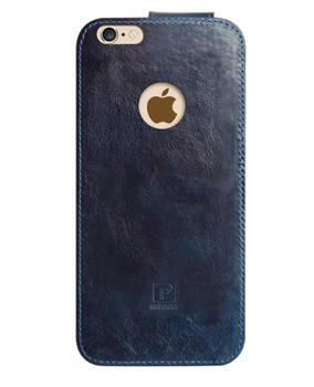 iPhone 6S 6 Real Leather Wrap Case Pouch Blue