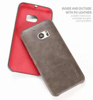 HTC 10 Vintage Series Back Cover Case Brown