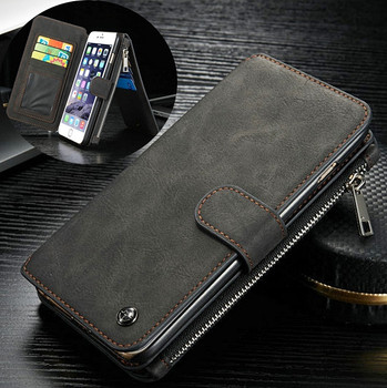 iPhone 6S/6 PLUS Leather Wallet Case-14 Card Slots