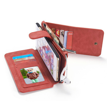 iPhone 6S/6 PLUS Leather Wallet Case Red-14 Card Slots