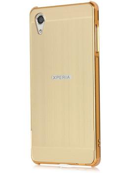 Sony Xperia X Aluminum Metal Bumper Case+Back Cover Gold