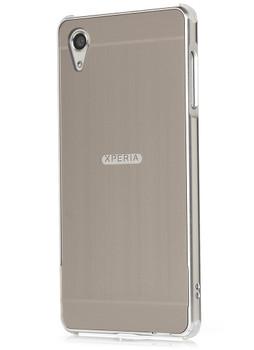 Sony Xperia X Aluminum Metal Bumper Case+Back Cover Silver