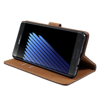 Samsung Galaxy Note 7 Leather Case Cover Brown