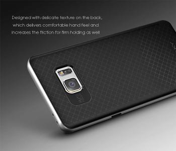 Samsung Galaxy Note 7 Silver Bumper Case+Back Cover
