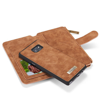 Samsung Galaxy Note 7 Leather Wallet Case Brown-14 Card Slots