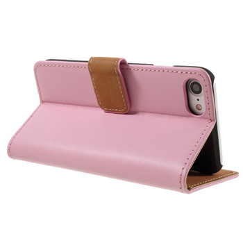 iPhone 7 Leather Wallet Case Soft Pink