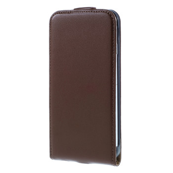 iPhone 7 Leather Flip Case Brown