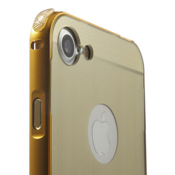 iPhone 7 PLUS Aluminum Bumper Case+Back Cover Gold