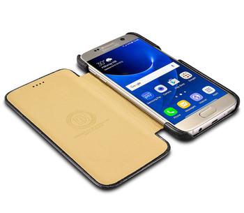 iCarer Samsung S7 Crocodile Case Cowhide Leather