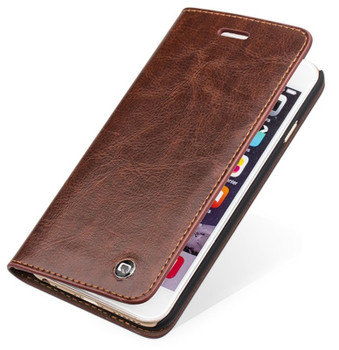 Qialino iPhone 6S 6 Handmade Classic Leather Case Brown