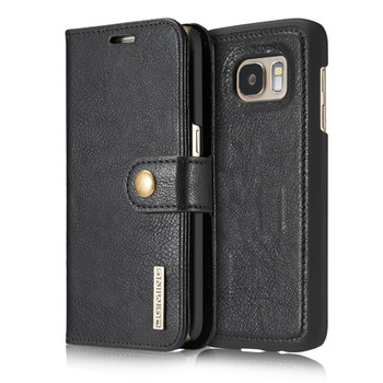 Samsung S7 Phone Leather Wallet+Magnetic Removable Case