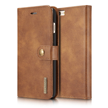iPhone 6S 6 Leather Wallet With Removable Case Brown