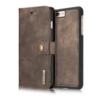 iPhone 7 PLUS Leather Wallet Coffee With Removable Case