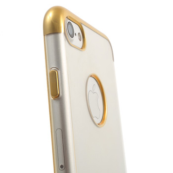iPhone 7 Bumper Case Gold with Clear Back