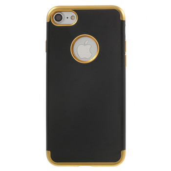 iPhone 7 Bumper Case Gold with Black Back