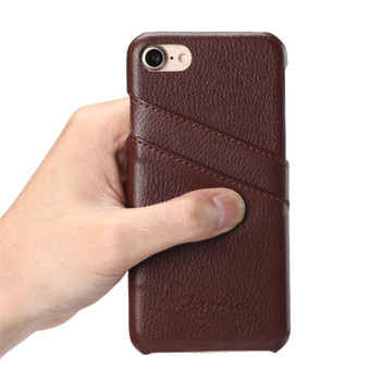 iPhone 7 Genuine Leather Layer Hard Case Brown