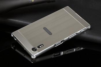 Sony Xperia XZ Aluminum Bumper Frame Case+Back Cover Silver