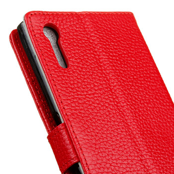 Sony Xperia XZ Genuine Leather Case Wallet Red